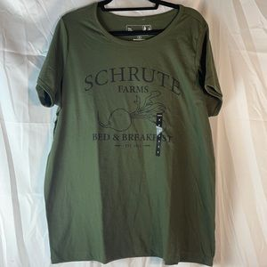 Torrid Schrute Farms Olive Classic Fit Ringer Tee